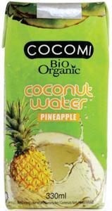 Woda kokosowa o smaku ananasa BIO 330 ml Cocomi