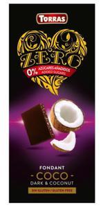 Czekolada ZERO gorzka kokosowa bez cukru 125 Torras - 2875801496