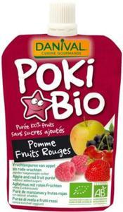 Poki jabłko z dodatkiem czerwonych owoców i czarnej porzeczki BIO 90g Danival - 2878641673