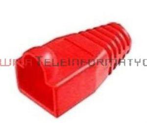 Osłona wtyku RJ45 gumowa czerwona - 1629407490