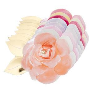 Meri Meri - Talerzyki Róża kolorowa - 2889396284