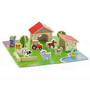 Viga Drewniana Farma dla Zwierząt 3D Zagroda ze zwierzętami 30 elementów - 2895288801