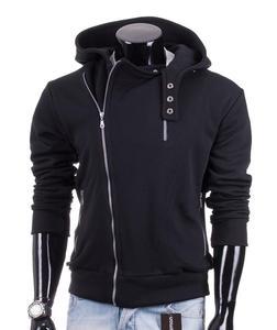 Czarna rozpinana bluza męska Carlo Lamon - Czarny - 2601031846