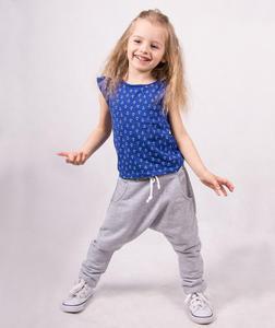 Dresowe spodnie dziecięce pumpy 'Mario' - szary - 2601031871