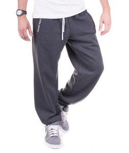 Grafitowe męskie spodnie dresowe 'Teodoro' od Carlo Lamon - Grafit - 2601031909