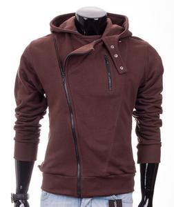 Brązowa bluza męska z kapturem Carlo Lamon - Brązowy - 2601031916