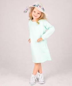 Dresowa sukienka dziecięca Carlo Lamon - Seledynowy - 2601031943