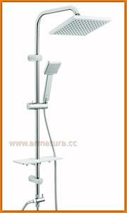 Zestaw natryskowy prysznicowy z deszczownią Squerto-LUX NP24 FERRO - 2884363776
