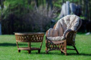 Sklep Oryginalny Fotel Z Rattanu Ogrodowe Krzesło