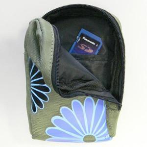 Opakowanie na aparat fotograficzny, nylon, zielono-niebieskie, na zamek, magazynowanie, 9 x 12 x 5 cm LOGO - 2834725943