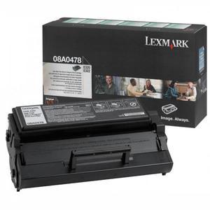 Lexmark oryginalny toner 08A0478, black, 6000s, return, Lexmark E320, 322