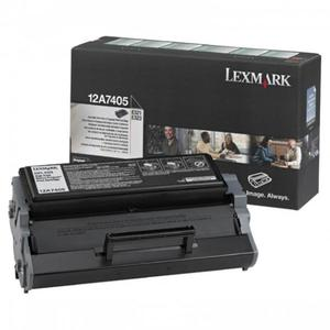 Lexmark oryginalny toner 12A7405, black, 6000s, return, Lexmark E321, E323