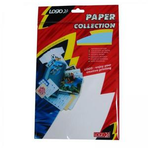 Logo etykiety na CD 113/37mm, A4, połysk, białe, 3 etykiety, 160g/m2, pakowany po 10 szt., do drukarek atramentowych - 2834726088