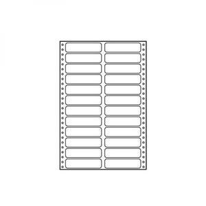 Logo etykiety tabelaryczne 89mm x 23.4mm, A4, dwurzędowe, białe, 24 etykiety, pakowany po 10 szt., do drukarek igłowych - 2834726162