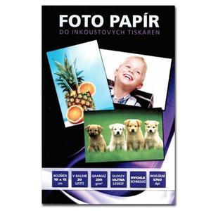 """No Name Papier fotograficzny, foto papier, połysk, biały, 10x15cm, 4x6"""", 230 g/m2, 20 szt., atrament - 2834726321"""