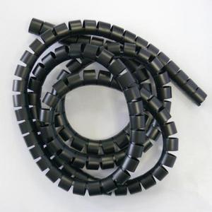 Spirala zgrzewająca, 15-50mm, czarna, 2m, (15mm pr.), Logo