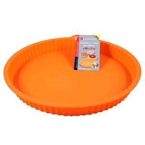 Forma silikonowa, 30 x 30 x 3cm, pomarańczowa, forma na ciasto - 2834726835