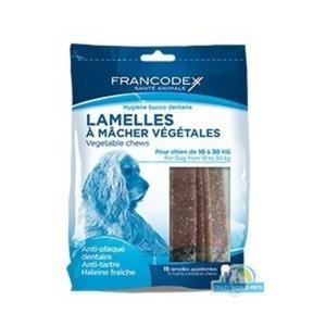FRANCODEX Paski do gryzienia średnie usuwające kamień i brzydki zapach z pyska 350 g/15 pasków - 2833046774