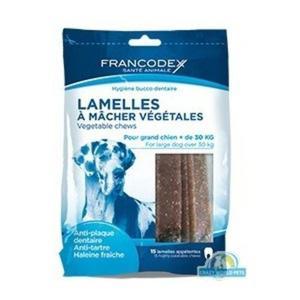 FRANCODEX Paski do gryzienia duże usuwające kamień i brzydki zapach z pyska 490 g/15 pasków - 2833046772