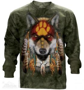 Native Wolf Spirit - Long Sleeve The Mountain - 2857394771