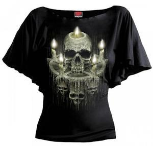 Waxed Skull Bat - Spiral - Damska - 2861363346