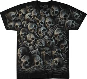 All Over Skulls - Liquid Blue - 2875548419