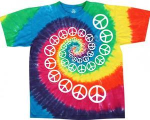 Rainbow Spiral Peace - Liquid Blue - 2861364238