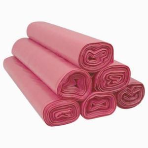 Worki czerwone na śmieci odpady 120 l-25 sztuk na rolce LDPE mocne - 2822922449