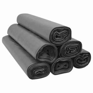Worki na śmieci 60l czarne LDPE mocne-50 sztuk na rolce - 2842637215