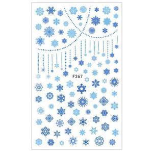 F267 Naklejki wodne KALKOMANIA XL Śnieżynki 12x7,5cm - 2882070903