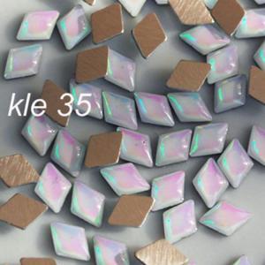 Klejnoty (cyrkonie) romby kle35 białe opalizujące - 2882064080