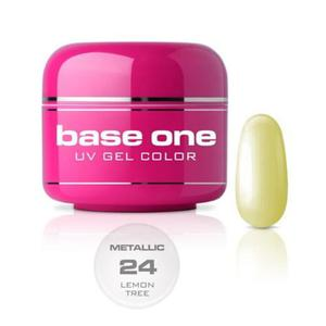 24 Silcare Base One METALLIC Żel UV kolor 5g - Lemon Tree - 2882067910