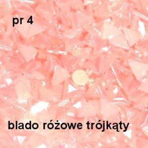 751fe6d71e4a87 Perłowe ozdoby pr04 trójkąty różowe perłowe 20szt. - 2882063359