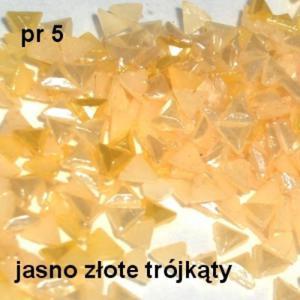 Perłowe ozdoby pr05 trójkąty złote perłowe 20szt. - 2882063360