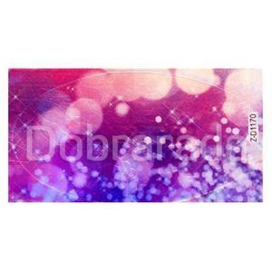 Folia ft05 transparentna kolorowe kwiaty - arkusz