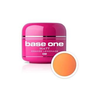02 Silcare Base One MATT Żel UV kolor 5g - Orange Lemonade - 2822932487