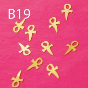Blaszki B19 - krzyżyk 10szt. - 2882063667