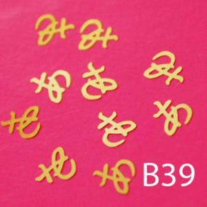 Blaszki B39 - krzyżyki z zawijaskiem 10szt. - 2882063670