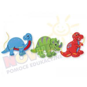 Piankowe dinozaury do przewlekania - 2826505345