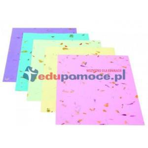Kwiecisty papier z kolorowym tłem - 2826503993