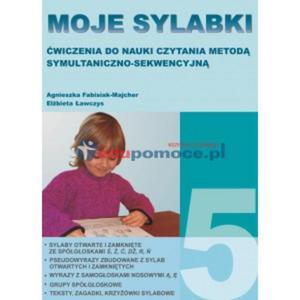 Moje sylabki 5. Ćwiczenia do nauki czytania - 2826504815