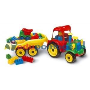 Traktor z przyczepą z klockami - 2826507297