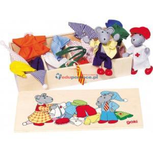 Elastyczne myszki z zestawem ubranek - 2834111649