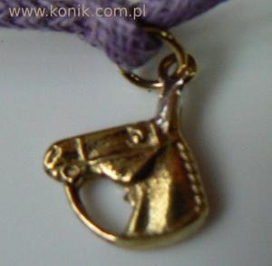 Bransoletka - głowa konia z wodzami - 2847720856