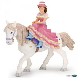 Figurka dama w kapeluszu na koniu - PAPO - 2847722989