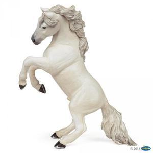 Figurka biały koń stający dęba - PAPO - 2847723042