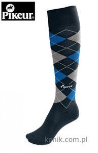 Podkolanówki Pikeur - anthracite/baltic blue/grey - 2847724203