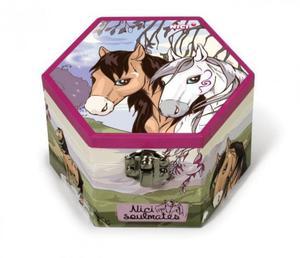 Szkatułka z lusterkiem koń biały i brązowy - NICI - 2847725399