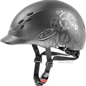 Kask UVEX model ONYX PEACE dziecięcy - black mat/silver - 2847725718