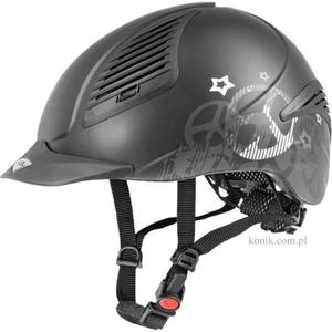 Kask UVEX Exxential PEACE - black mat/silver - 2847725720